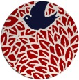 rug #642041 | round red graphic rug