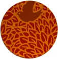 rug #642045 | round red graphic rug
