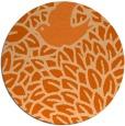 rug #642061   round red-orange animal rug