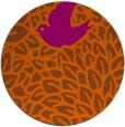 rug #642065 | round red-orange animal rug