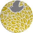 rug #642101   round yellow animal rug