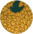 rug #642105 | round light-orange animal rug