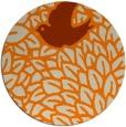 rug #642117 | round orange graphic rug