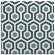 rug #642529 | square white geometry rug
