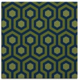 rug #642541 | square blue rug