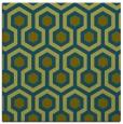 rug #642565   square green retro rug