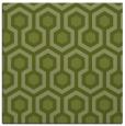rug #642629   square green retro rug