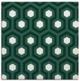 rug #642637   square green retro rug