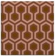 rug #642649 | square brown retro rug