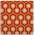 rug #642701 | square orange retro rug
