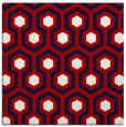 rug #642745 | square red rug