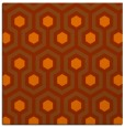 rug #642761 | square red-orange geometry rug