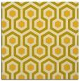 rug #642793   square yellow geometry rug