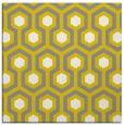 rug #642805 | square yellow retro rug