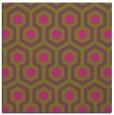 rug #642833 | square light-green retro rug