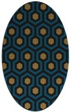 rug #642877 | oval brown retro rug