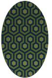 rug #642893 | oval blue retro rug