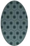 rug #642929 | oval blue-green rug