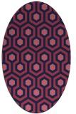 rug #642949 | oval blue-violet rug