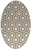 rug #642997 | oval white retro rug