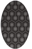rug #643005 | oval mid-brown retro rug