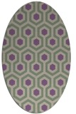 rug #643037 | oval purple geometry rug