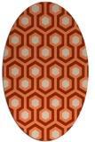 rug #643053 | oval orange geometry rug