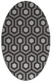 rug #643057 | oval red-orange popular rug