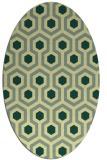 rug #643061   oval yellow retro rug