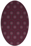rug #643081 | oval purple retro rug