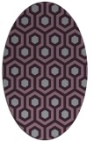 rug #643093 | oval purple rug