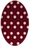 rug #643097 | oval red retro rug