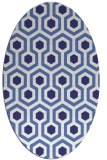 rug #643137 | oval white geometry rug
