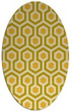 rug #643145 | oval yellow retro rug