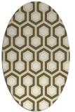 rug #643149 | oval yellow rug