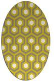 rug #643157 | oval white retro rug