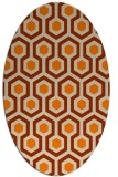 rug #643173 | oval beige geometry rug