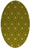 rug #643177 | oval light-green rug