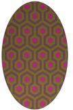 rug #643185 | oval light-green rug