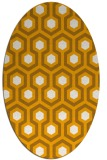 rug #643193 | oval light-orange retro rug