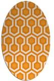 rug #643201   oval light-orange retro rug