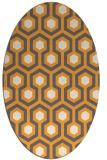 rug #643205 | oval white geometry rug