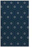rug #643241 |  blue retro rug