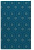 rug #643257 |  blue-green retro rug