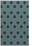rug #643281 |  blue-green retro rug