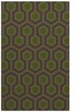 rug #643345    green retro rug