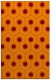 rug #643397 |  red-orange retro rug