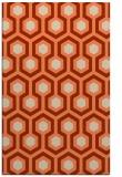 rug #643405 |  orange retro rug