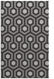 rug #643409 |  red-orange retro rug