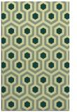 rug #643413    yellow retro rug